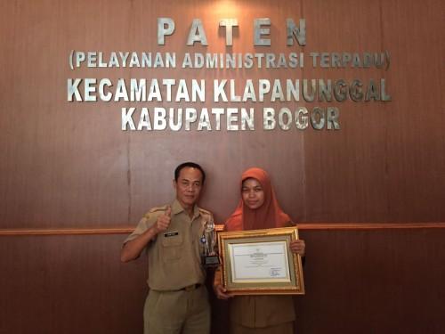 Juara 1 Pengelola Kepegawaian Tk Kab Bogor